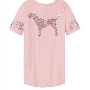 Victoria's Secret pink M bling perfect crew tee